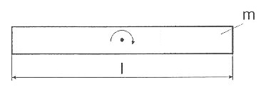Long thin bar with pivot point at center of gravity