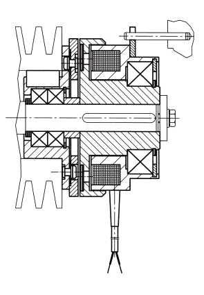 Shaft Mounted Clutch OLG with Armature L
