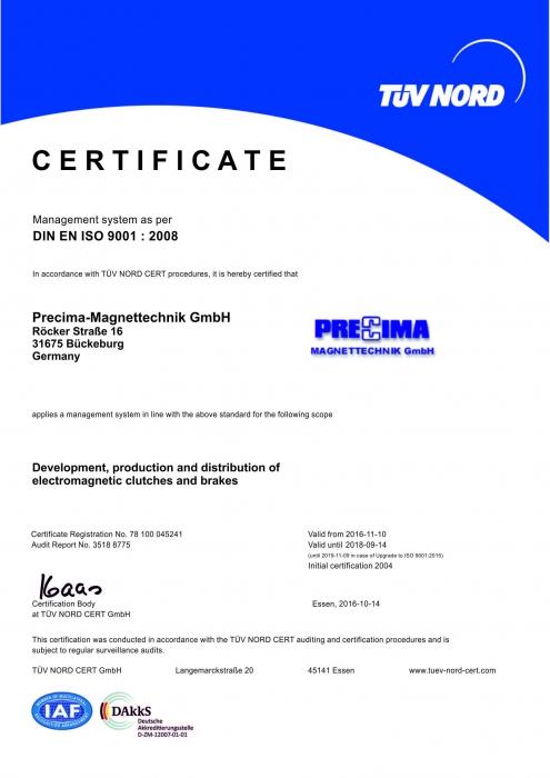 TÜV NORD - DIN EN ISO 9001 : 2008